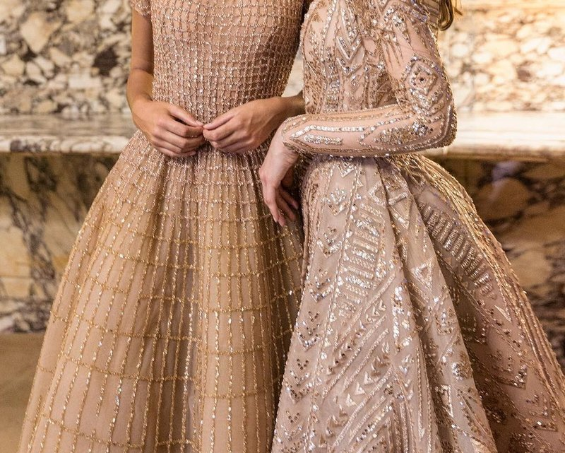 Gouden mesh jurken