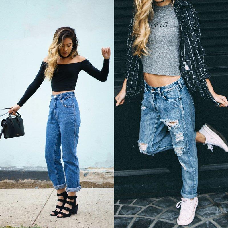 Waar draag je boyfriend jeans mee?