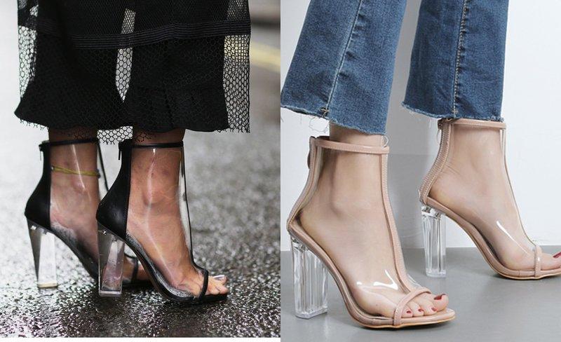 Ką dėvėti batus su skaidriais elementais?