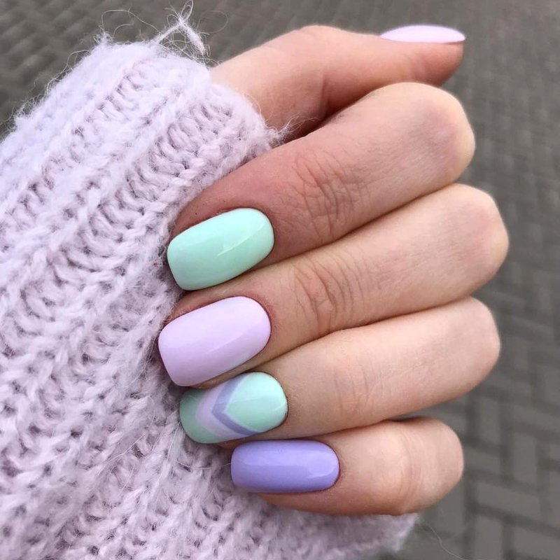 Lavendel lente manicure