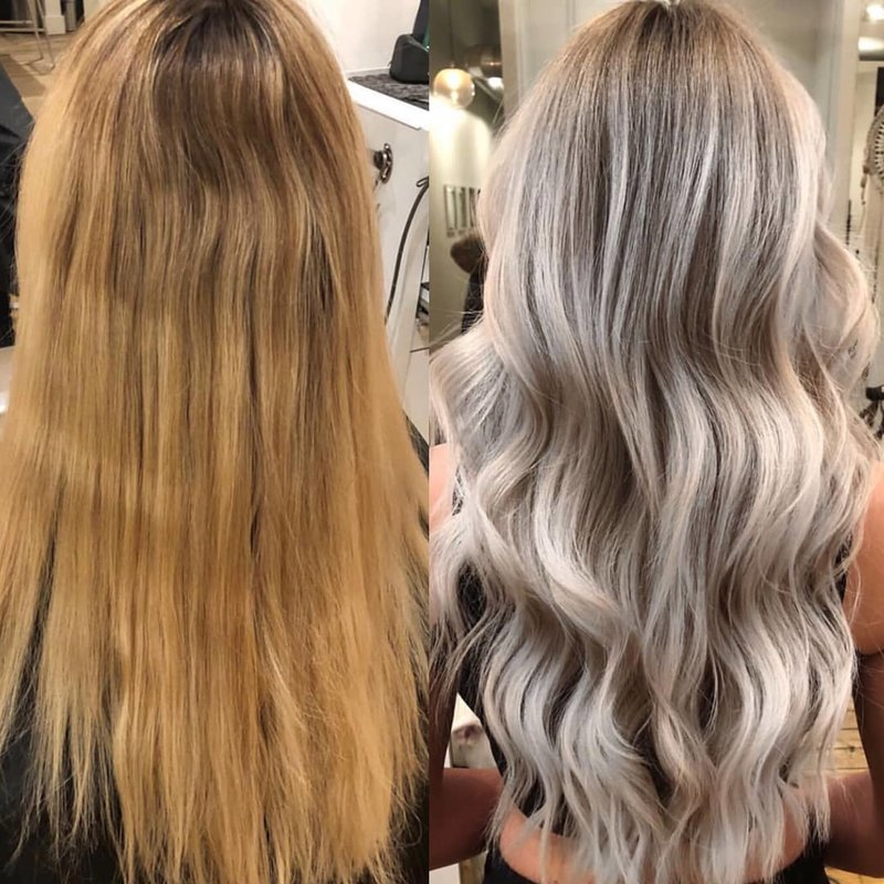 Blonde correctie: bliksem en toning