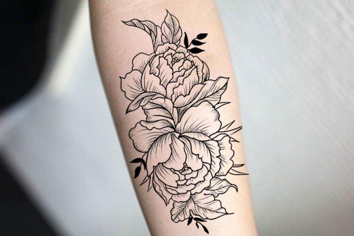 Kontūriniai tatuiruotės eskizai