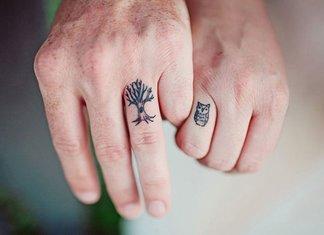 Mooie dubbele tatoeages voor liefhebbers