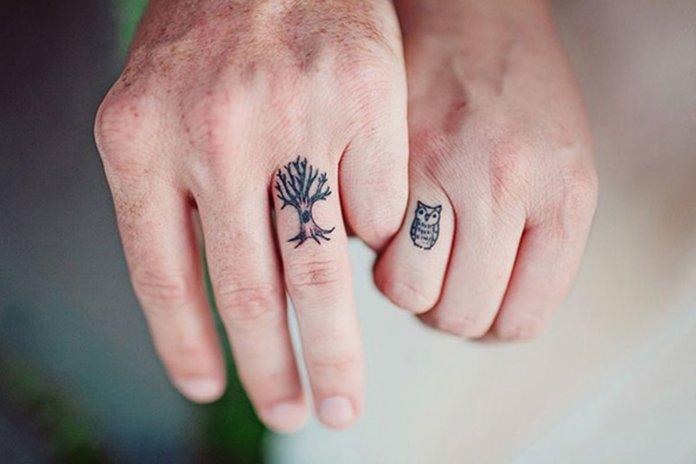 Gražios dvigubos tatuiruotės mėgėjams
