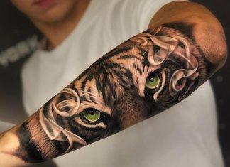 Mooie tatoeage voor mannen op de onderarm