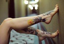 Tatouages de jambes de femmes