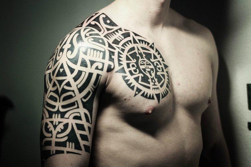 """Blackwork"" peties tatuiruotė"