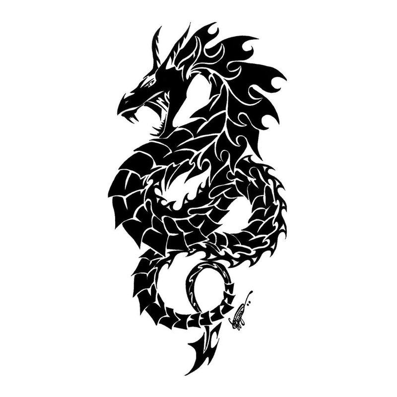 Drakono tatuiruotės dizainas