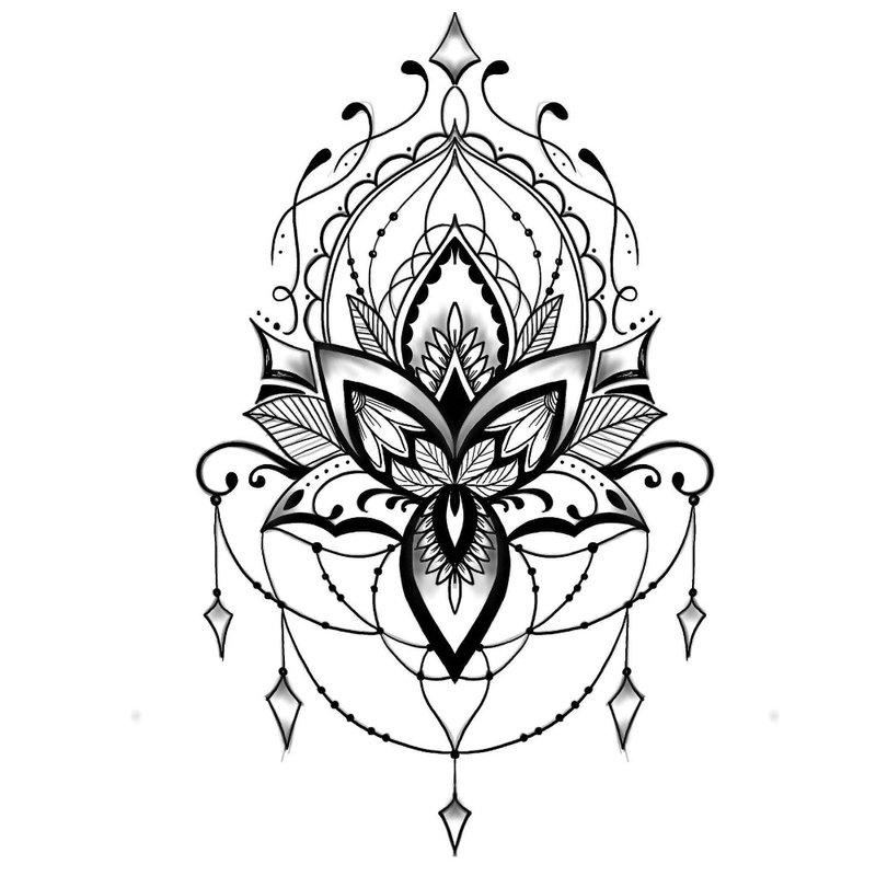 Etninės tatuiruotės eskizas