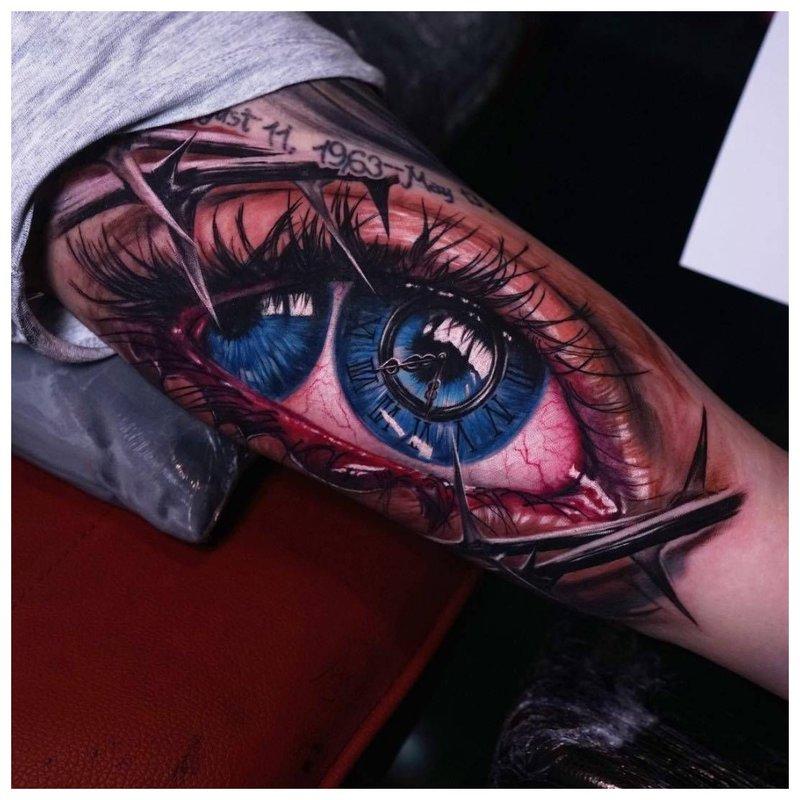 Oeil avec deux iris
