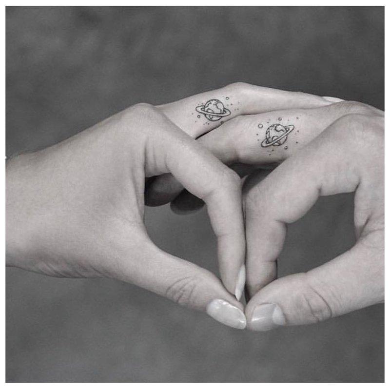 Piršto atspaudas - tatuiruotė