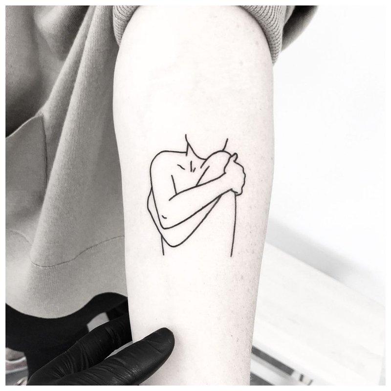 Vienos eilutės tatuiruotė