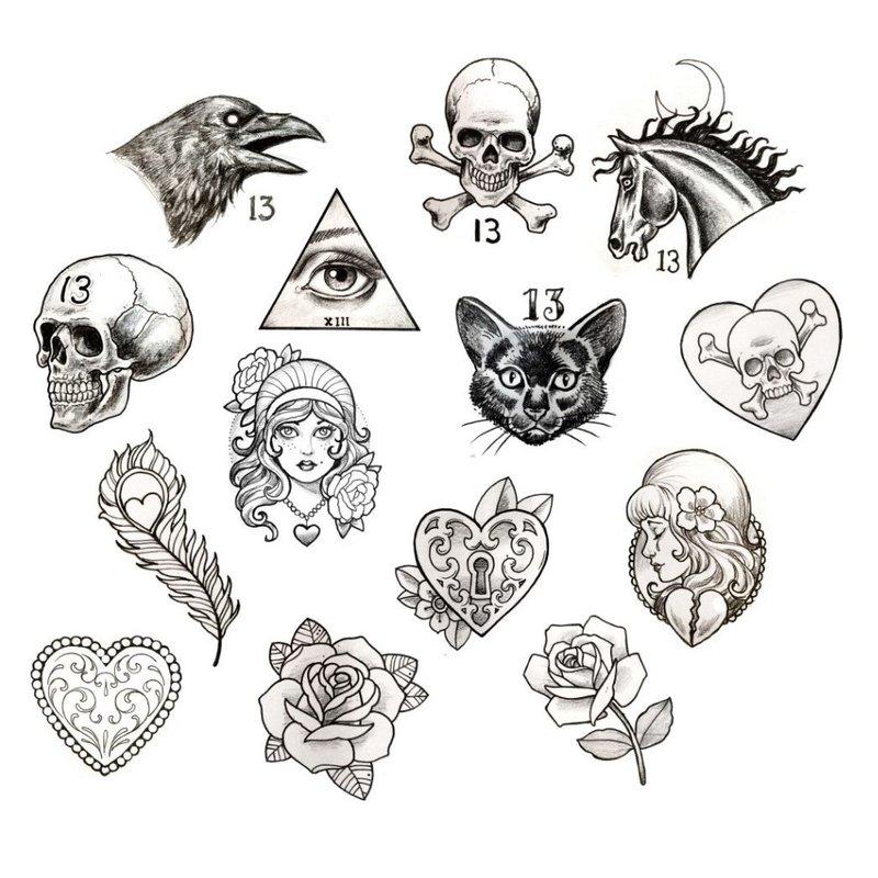 Tatuiruotės kaukolės eskizai