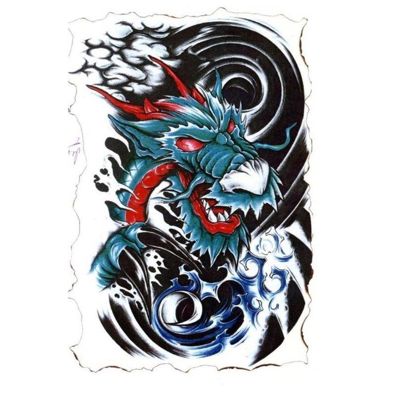 Tatuiruotės eskizas - drakonas