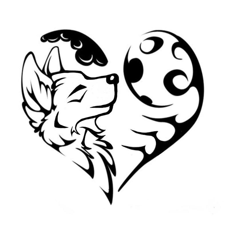 """""""Teen Wolf"""" mėnulyje kaukia - tatuiruotės eskizas"""