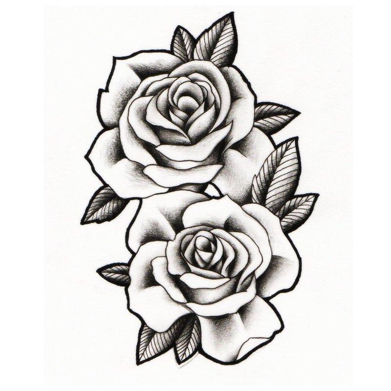 Rožių eskizas