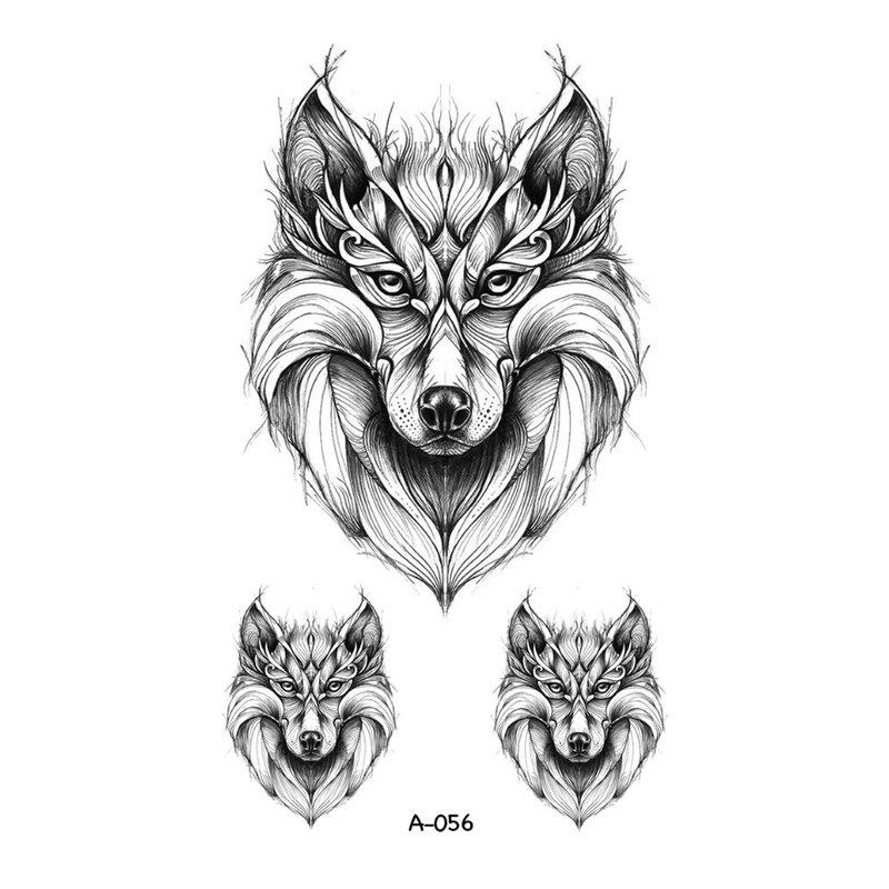 Schets voor tattoo - wolf