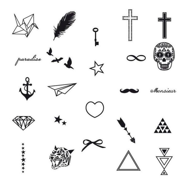 Mažų merginų riešinių tatuiruočių eskizai