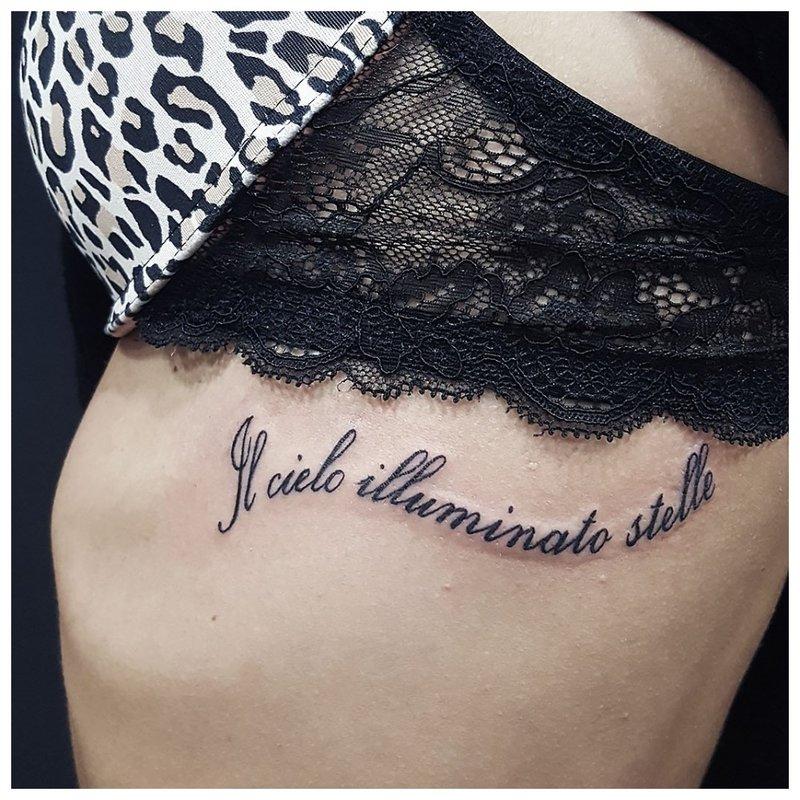 Ilgo šonkaulio tatuiruotė