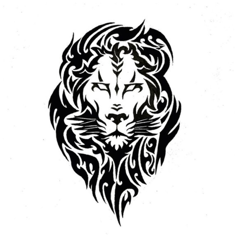 Liūtas - tatuiruotės eskizas