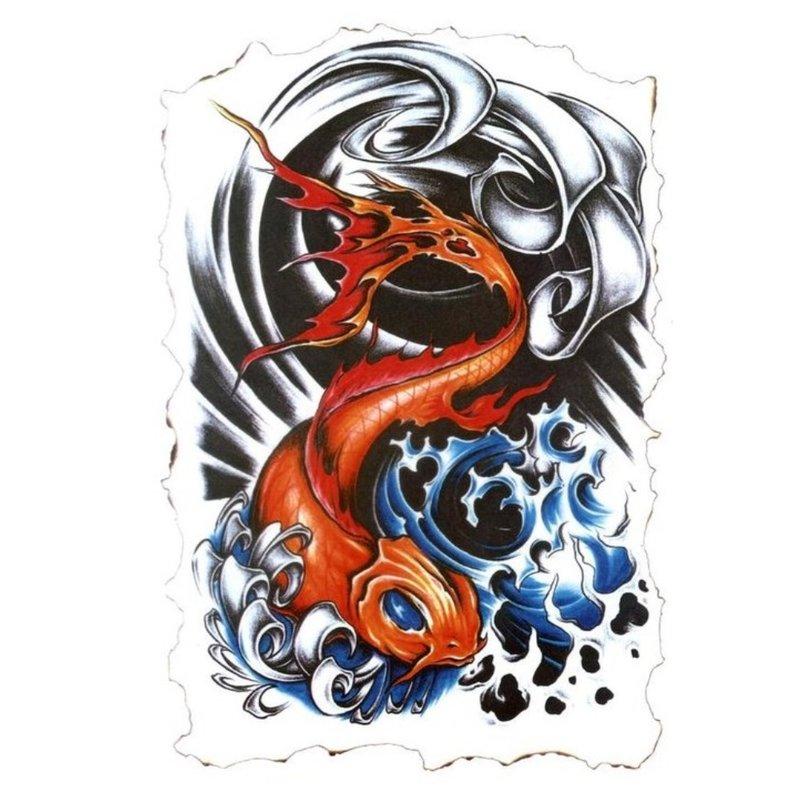Tatuiruotės eskizas - žuvis