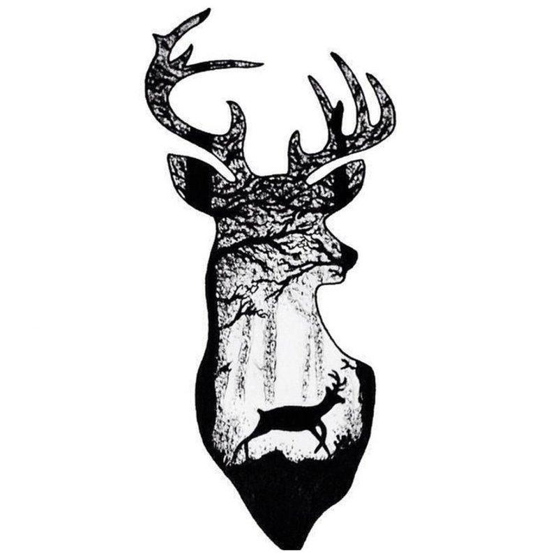 Gyvūnų temos tatuiruotės eskizas