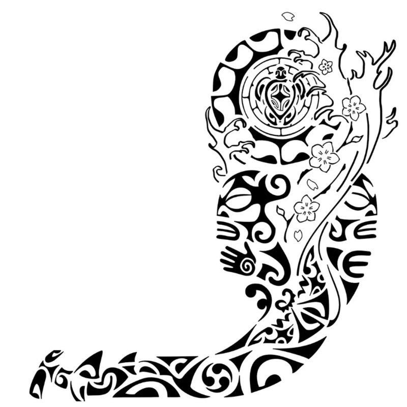 Tatuiruotės ant peties eskizas
