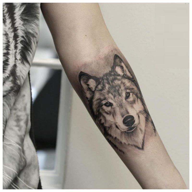 Wolf look - tattoo op de arm