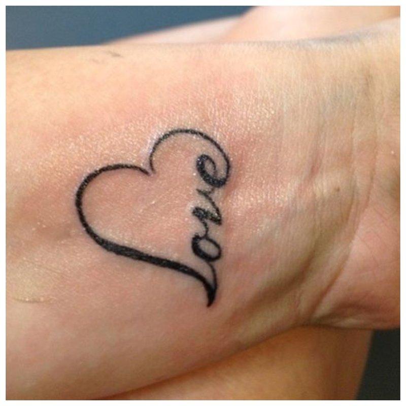 Meilė - užrašas ir simbolis