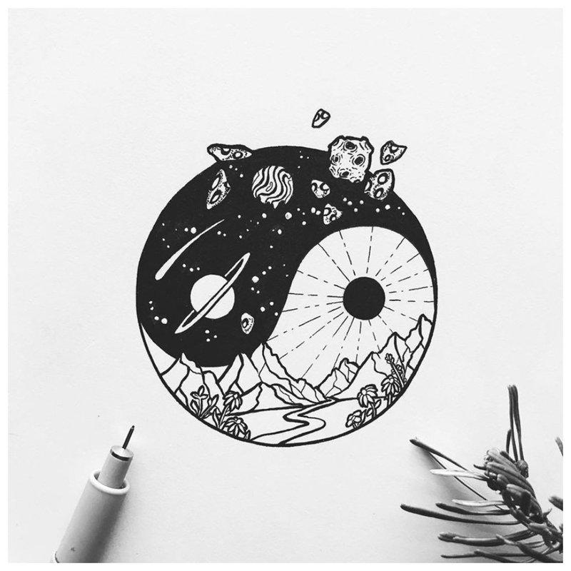 Simbolinė tatuiruotės eskizo tema