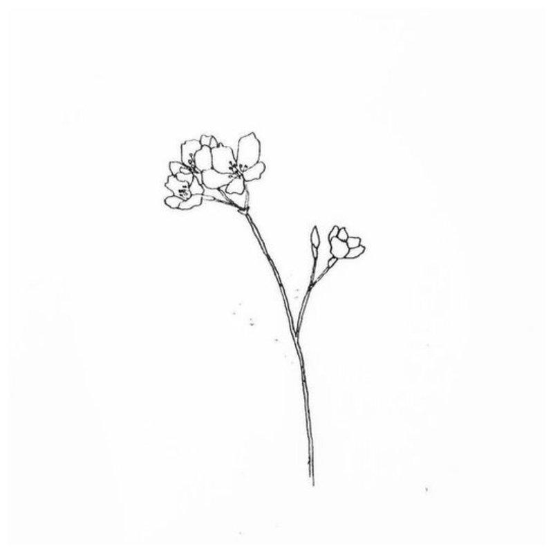 Gėlė - tatuiruotės eskizas