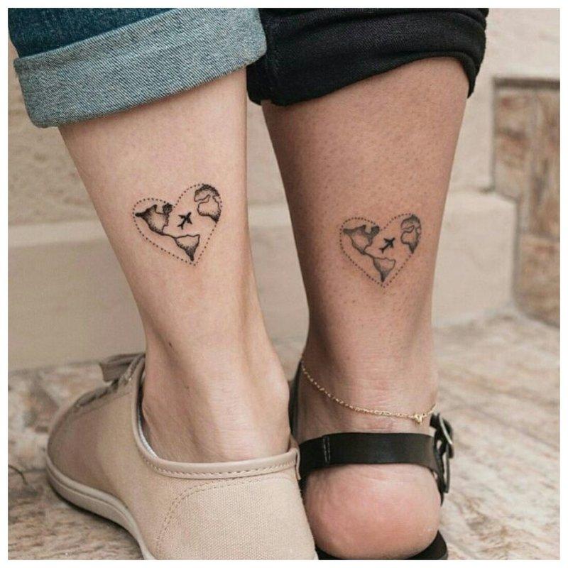 Meilė dviguba tatuiruotė