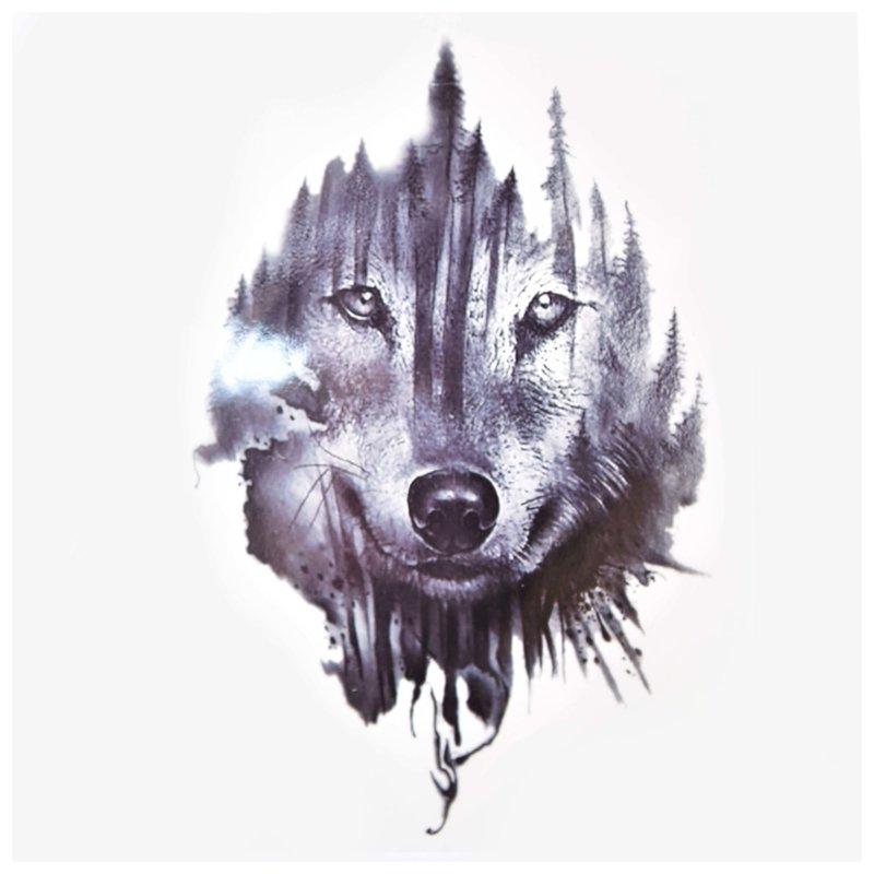 De wijze wolf - schets voor tattoo