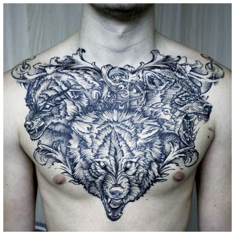 Volledige Wolf Tattoo