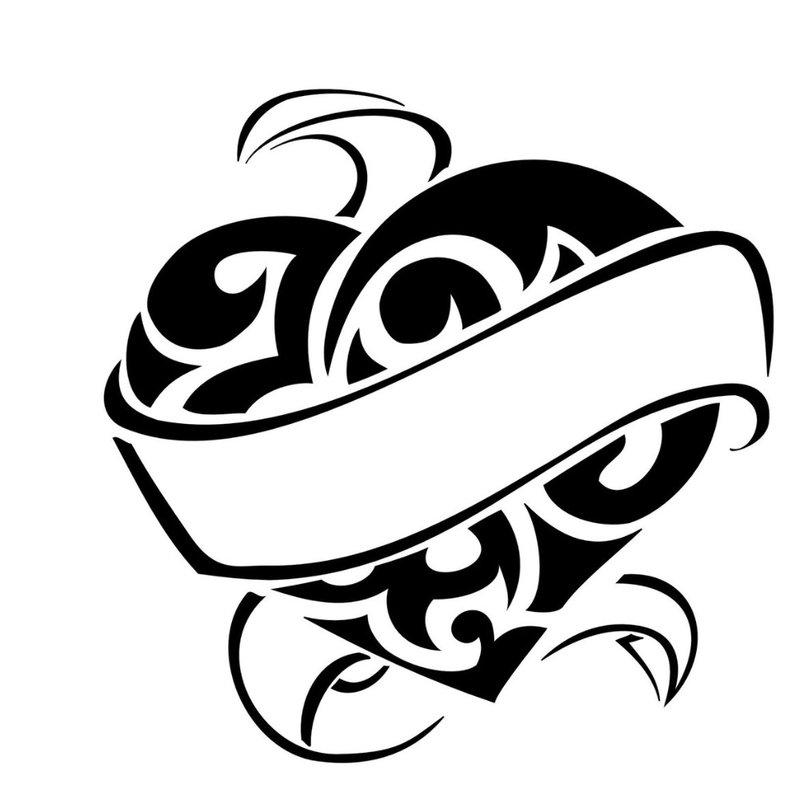 Širdies simbolis - tatuiruotės eskizas