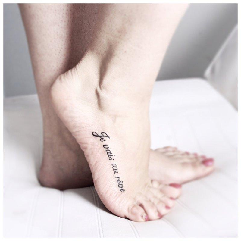 Užrašas ant pėdos