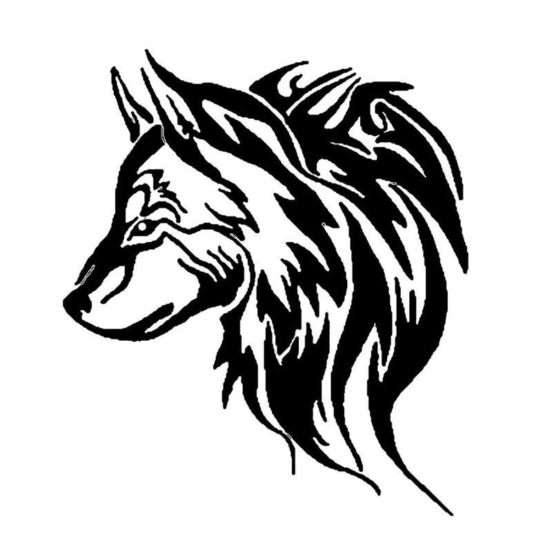 Wolf schets voor man tattoo