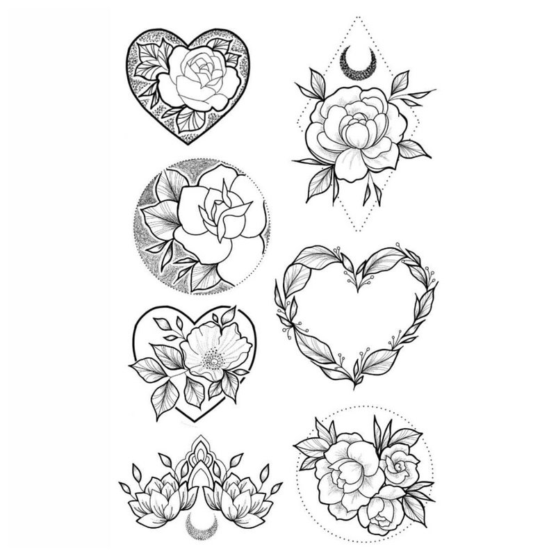 Mažų širdies tatuiruočių dizainai