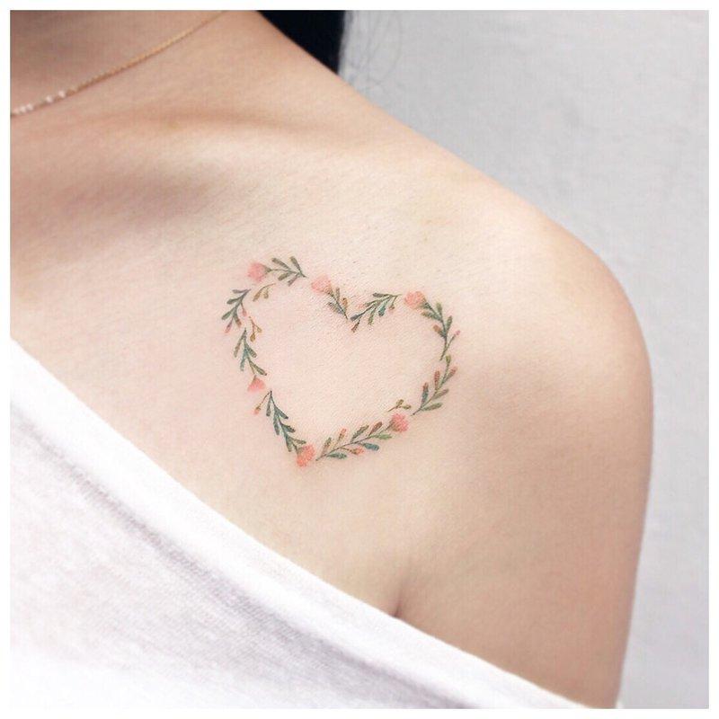 Tatuiruotė su širdimi