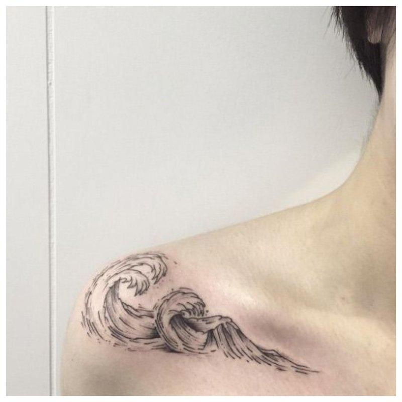 Banguotosios raktikaulio tatuiruotė