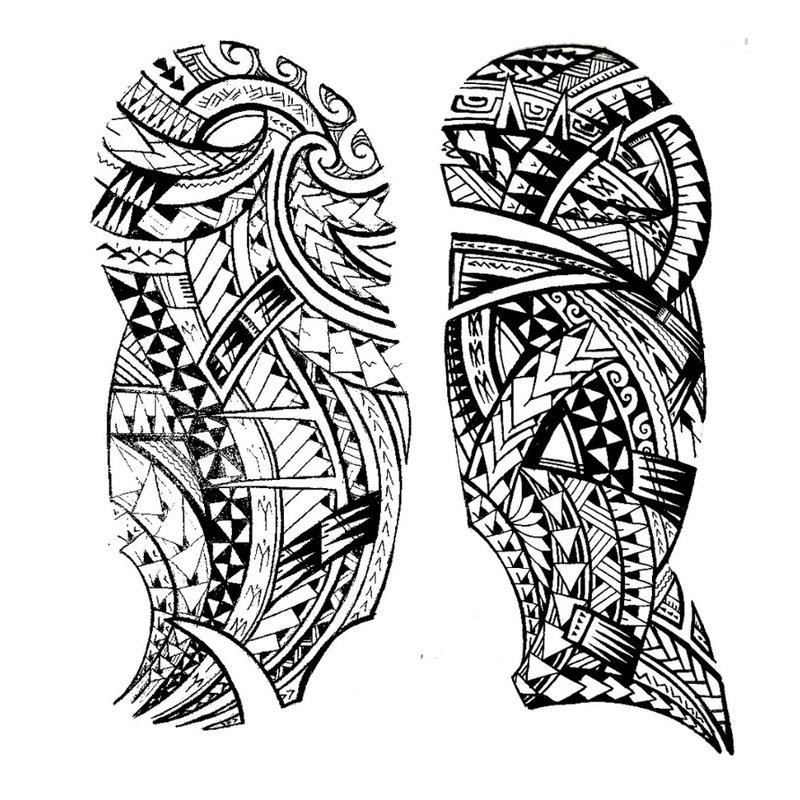 Maorių tatuiruotės eskizas