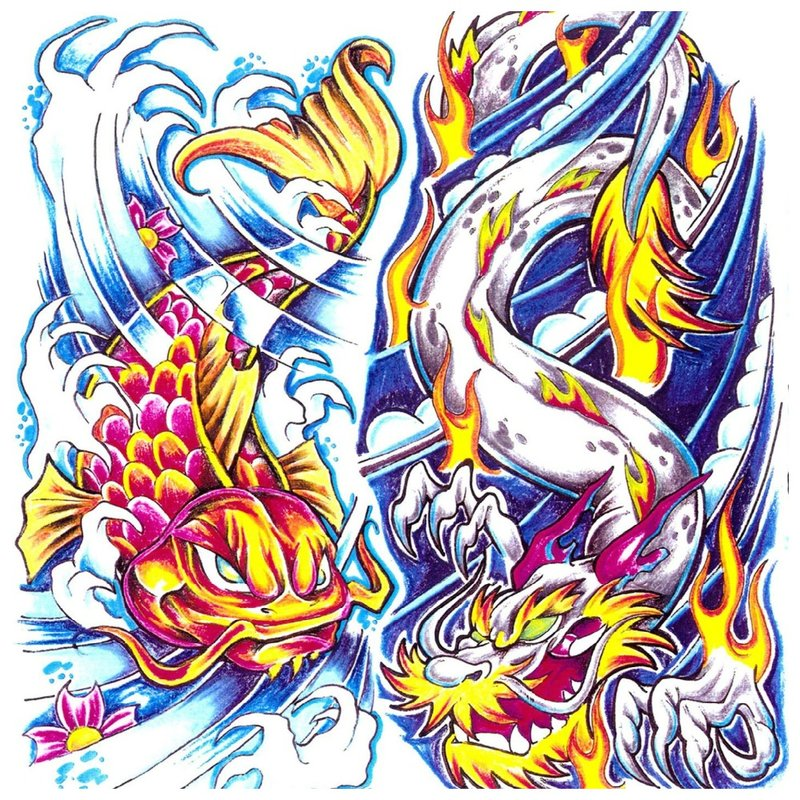 Japoniški tatuiruočių eskizai