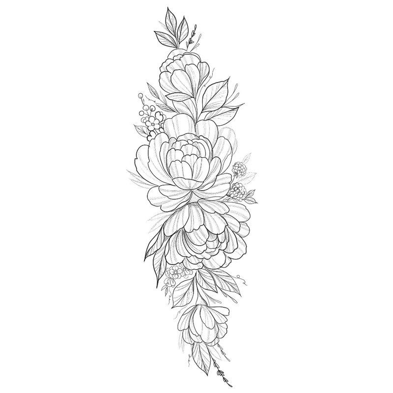Iš arti eskizas gėlės