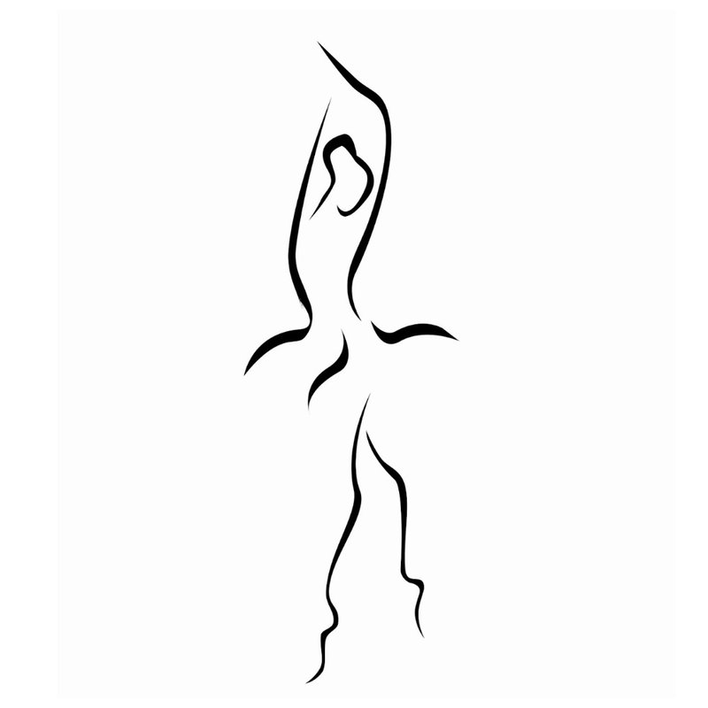Tatuiruotės balerinos eskizas