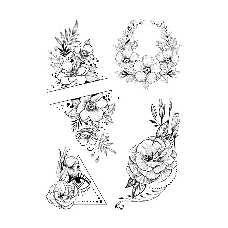 Išgalvoti mažų tatuiruočių eskizai