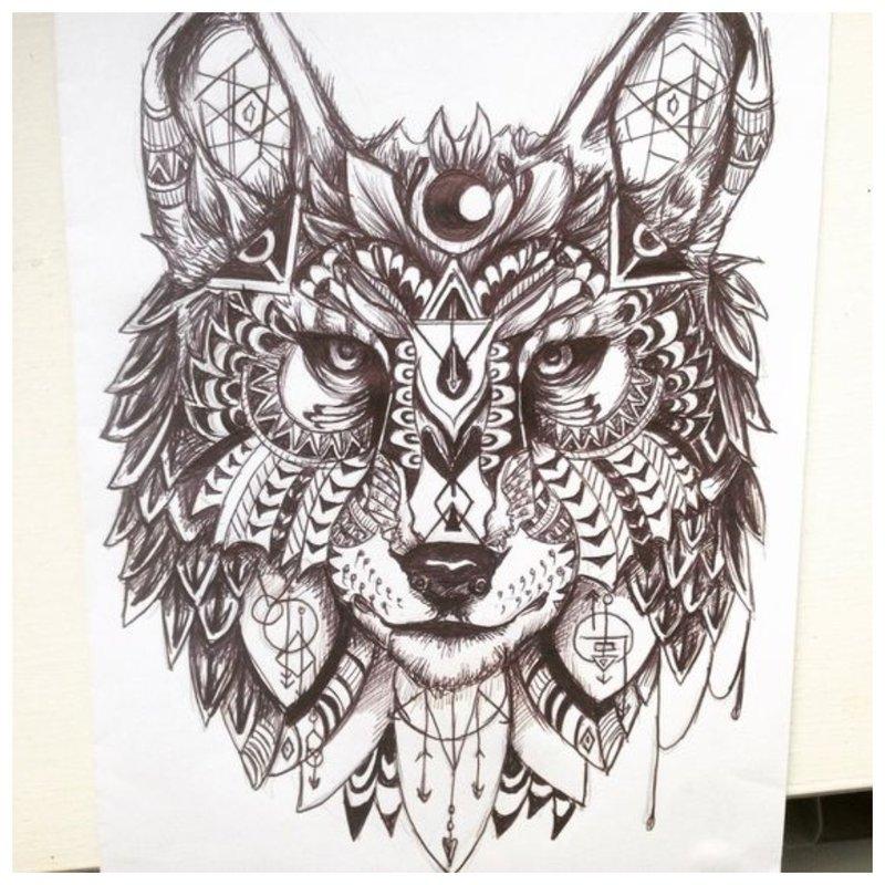 Symbolische schets voor tattoo