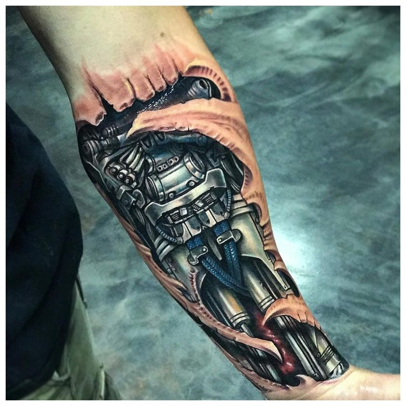 Biomécanique sur le bras