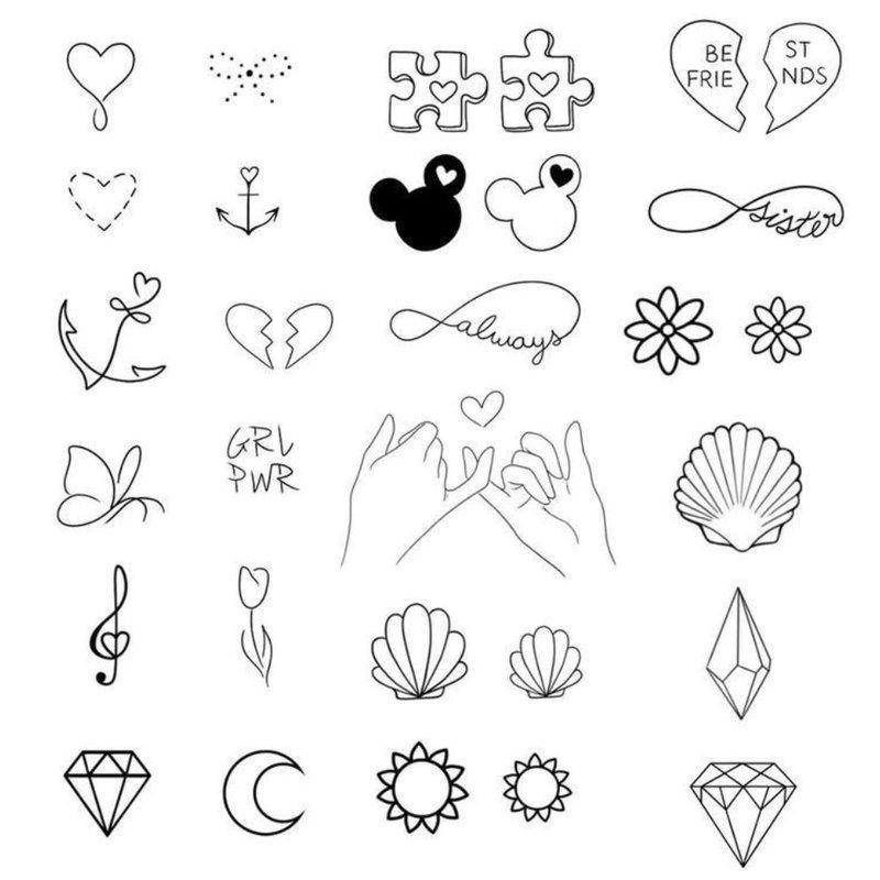 Mini riešo tatuiruočių eskizai
