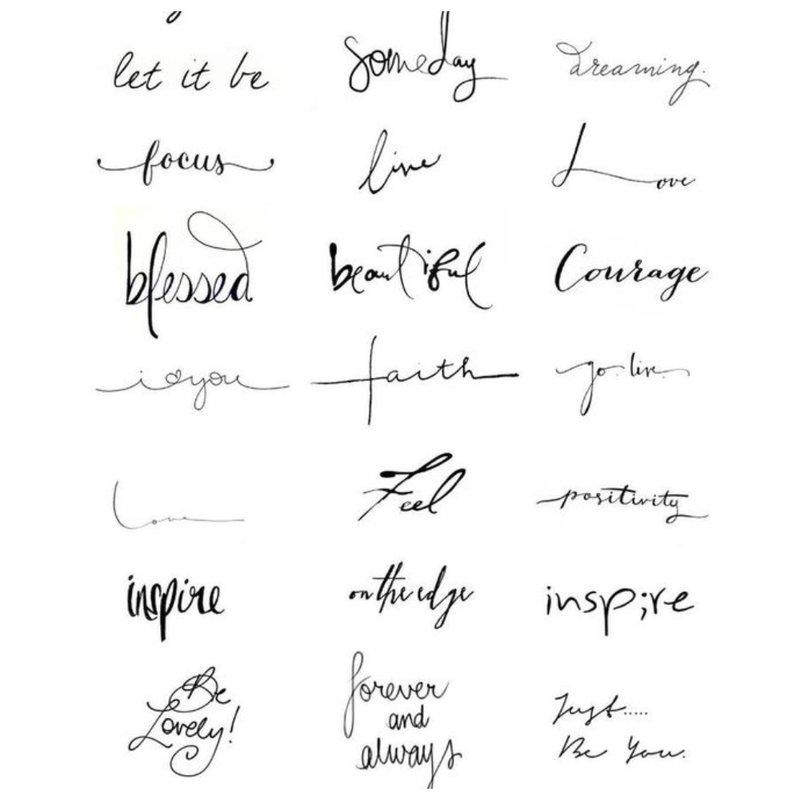Trumpi žodžiai tatuiruotė