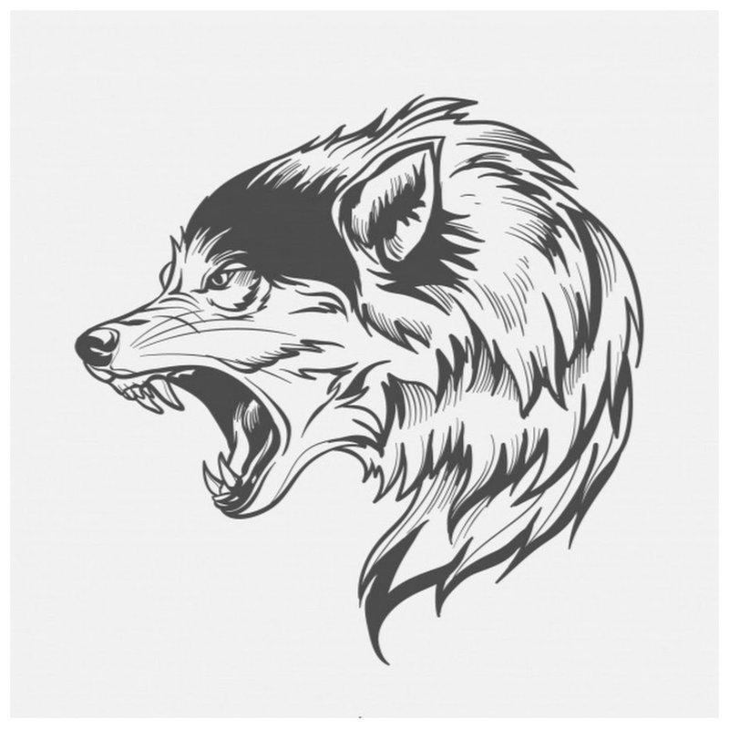 Wolf - schets voor tattoo
